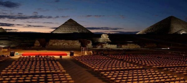 Sound and light show Pyramids of Giza