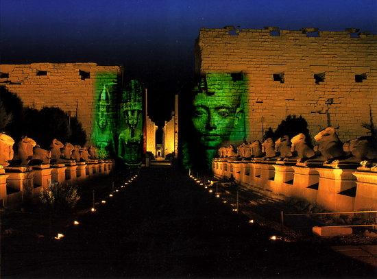 Sound and light Karnak temple luxor