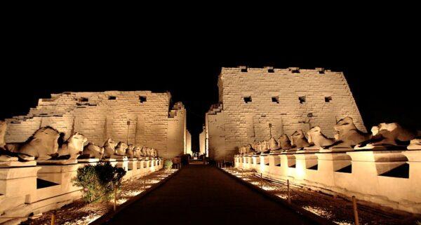 Luxor sound light show Karnak temple