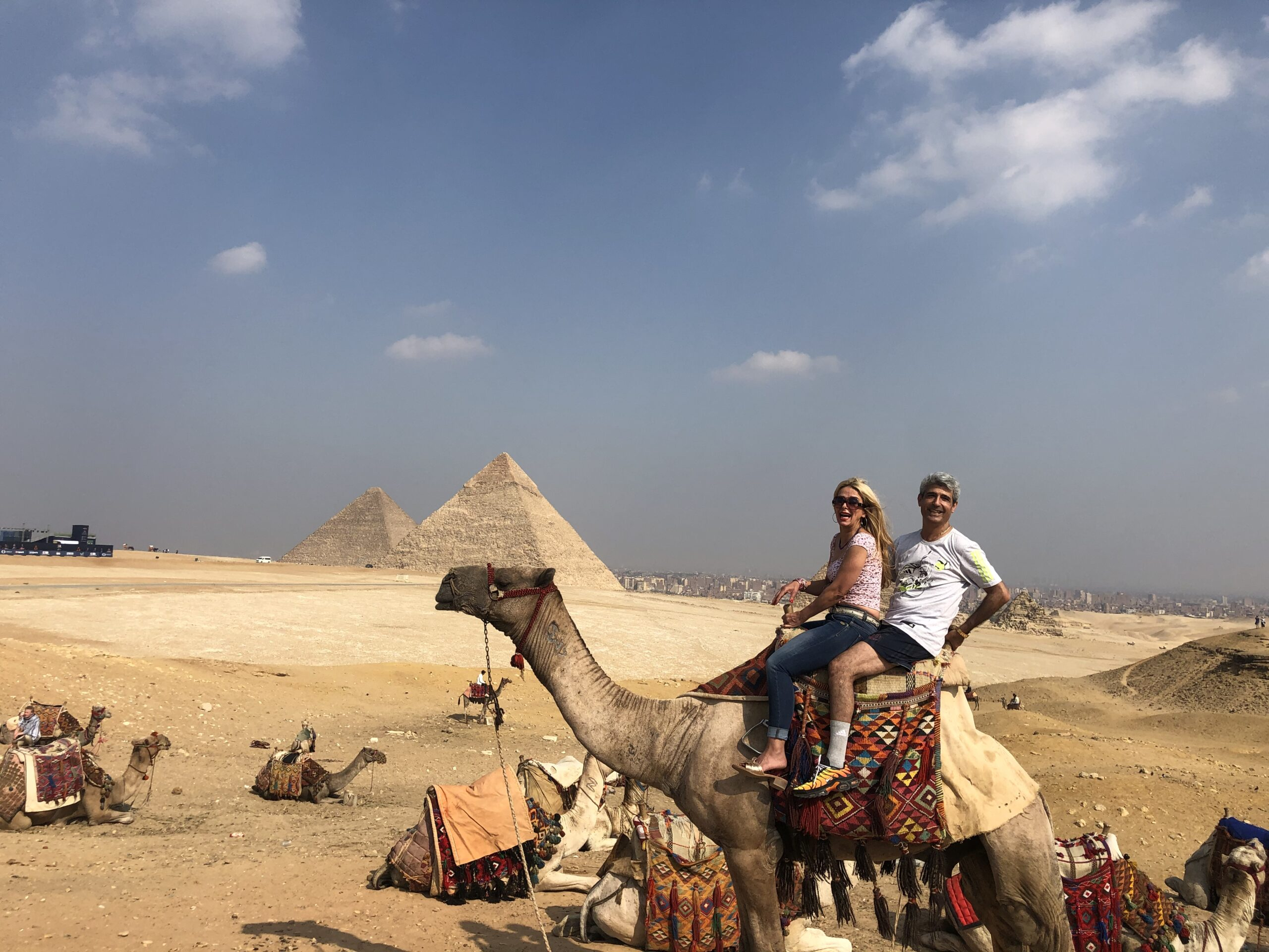 Cairo pyramids tour, camel ride