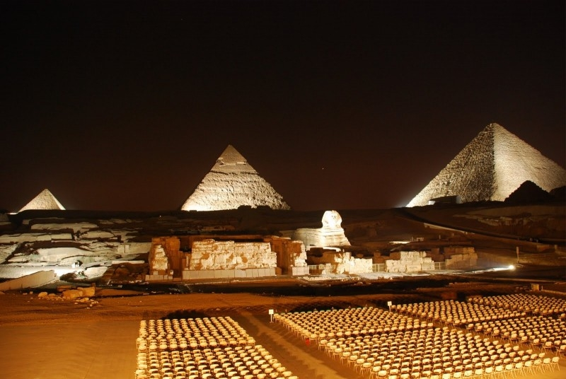 Giza pyramids sound and light show, Deluxe Tours Egypt