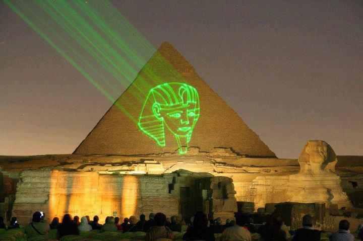 Sound and light at Giza pyramids