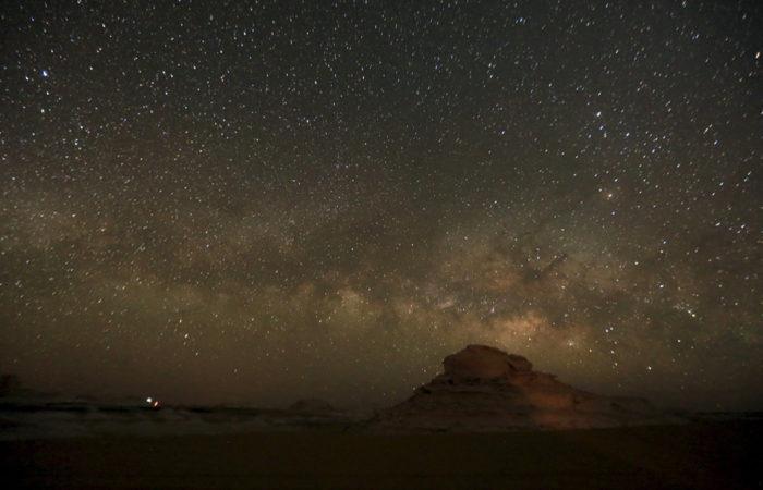 white desert at night