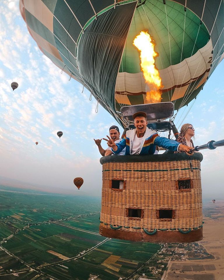 Hot air balloon luxor, Luxor Egypt, Luxor balloon ride Egypt, deluxe tours egypt, Deluxe travel Egypt