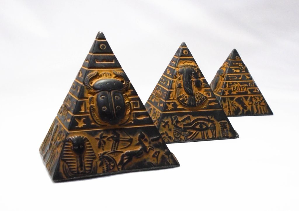 Pyramids miniature, shopping in Egypt