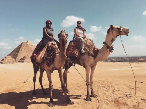 Pyramids tour with camel ride