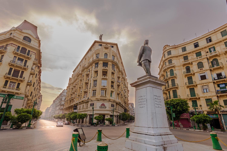 Talat harb square, cairo down town, cairo city tour