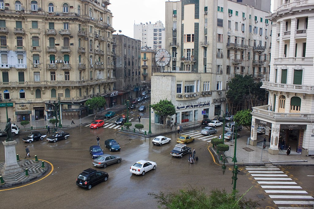 Cairo down town, talat harb square