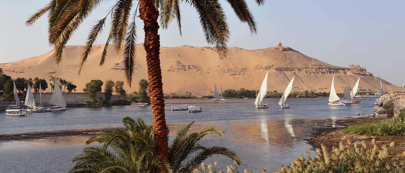 Nile river Egypt, Nile Felucca, Aswan