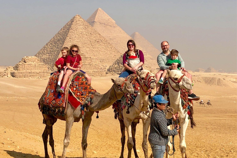Pyramids of Giza half day, family travel egypt, camel ride pyramids tour