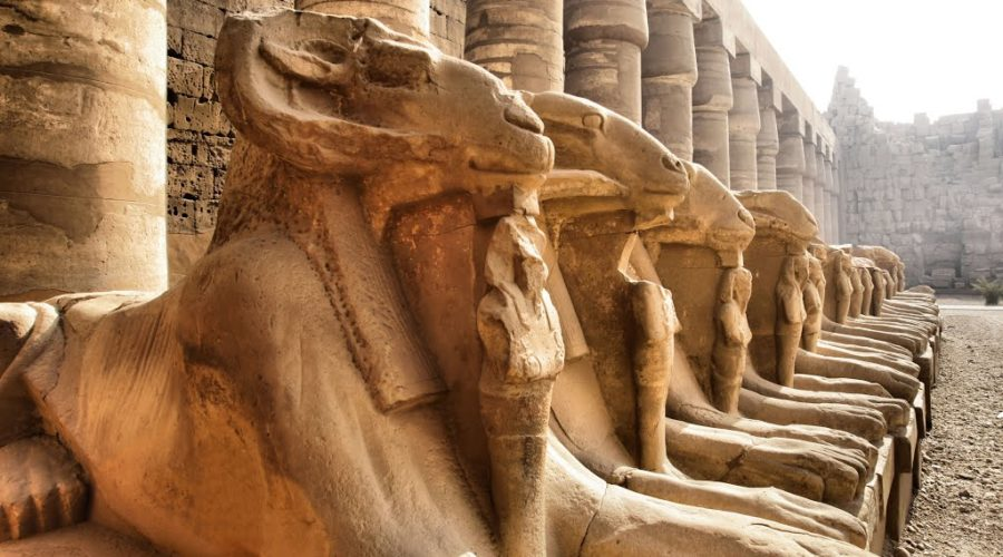 Karnak temple, avenue of sphinx, luxor