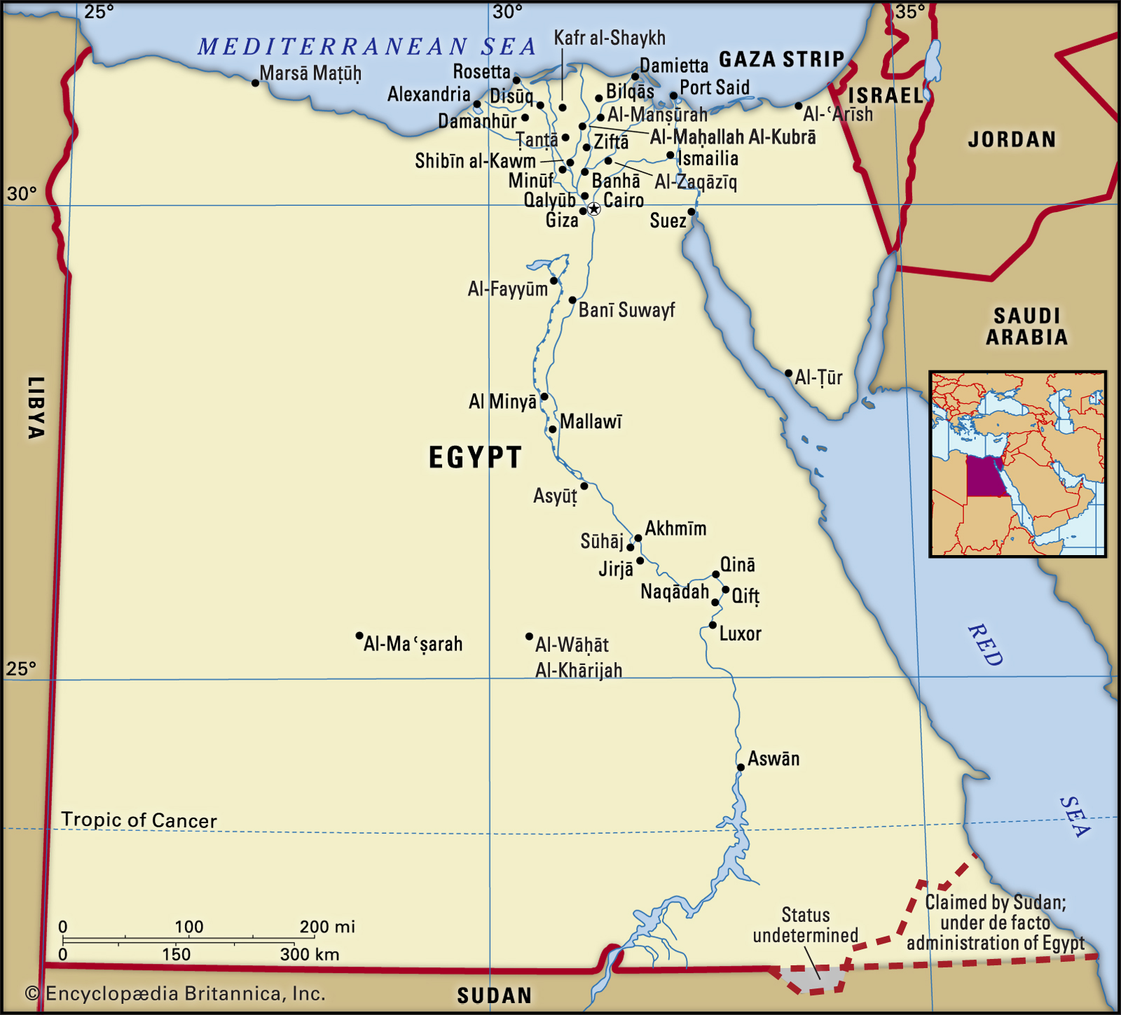 Map, Egypt map