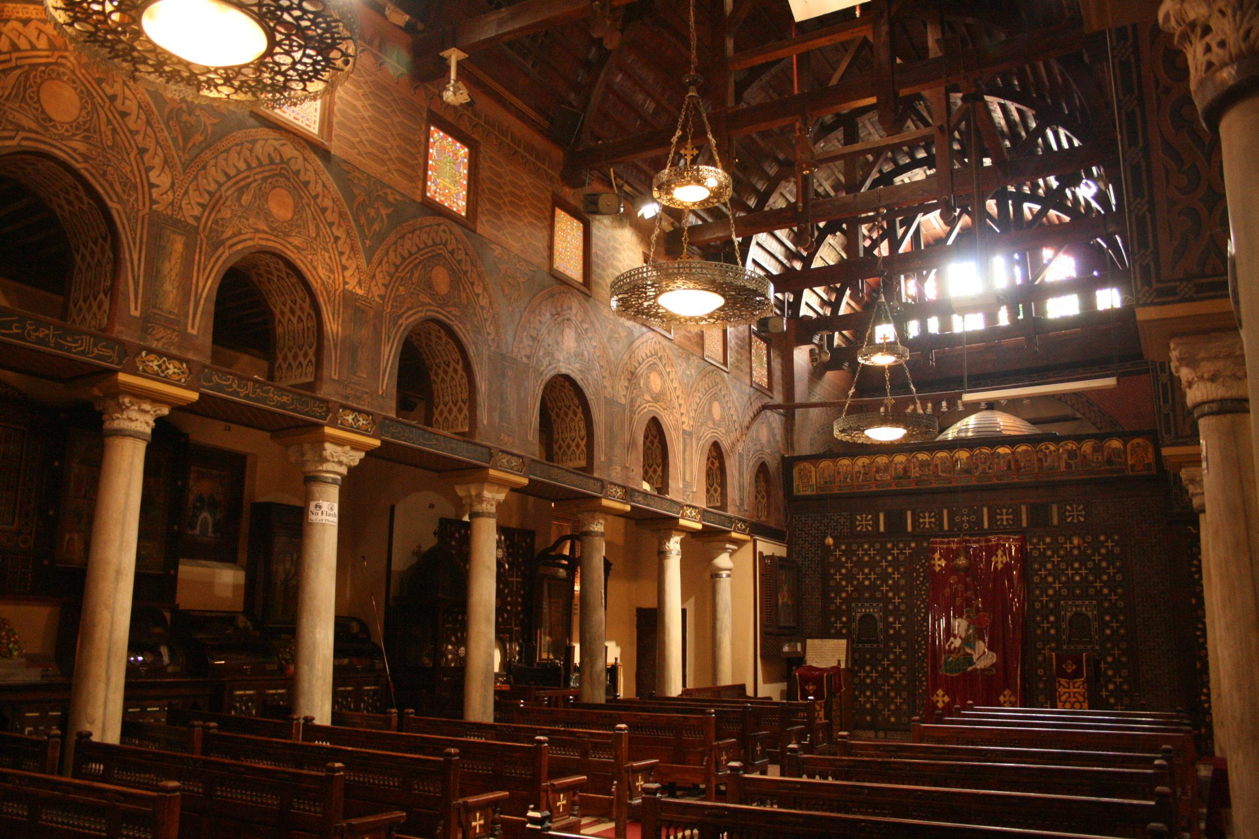 Hnaging Church , Coptic Cairo, old Cairo, Church of St. Marry, coptic cairo tour, trip to coptic cairo, cairo churches